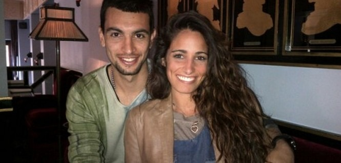 Javier Pastore with beautiful, Girlfriend Chiara Picone