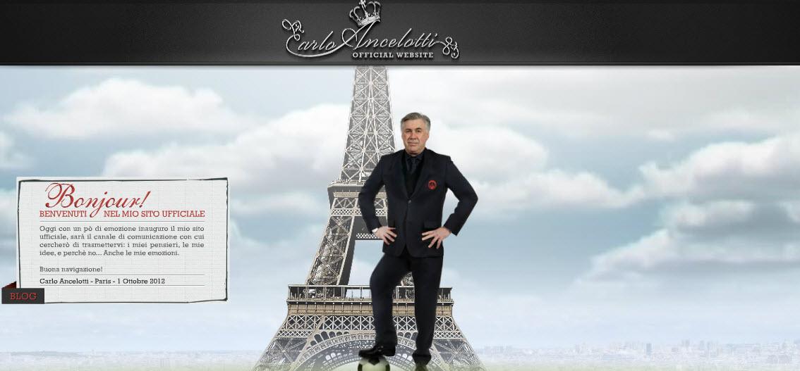 Carlo Ancelotti lance son site officiel !