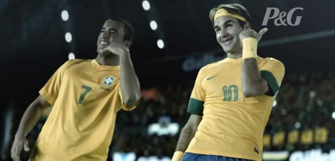 Vidéo : Lucas en mode pub avec Federer