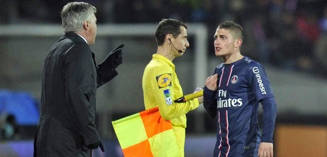 """Ancelotti """"Il m'a énervé beaucoup de fois, mais Verratti est unique...il a un grand avenir"""""""