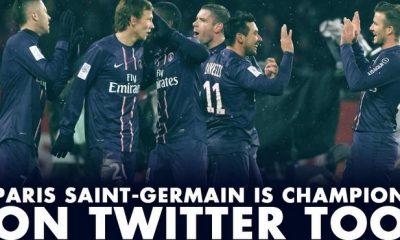 Le PSG également champion de France sur Twitter