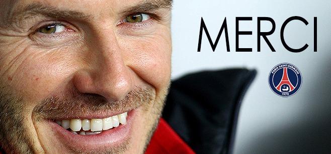 Anciens – Beckham félicite le PSG