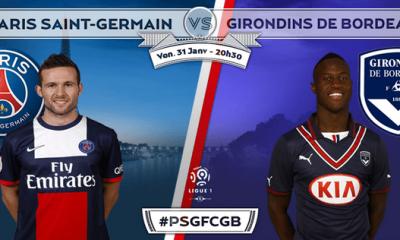 PSG - Bordeaux : la feuille de match