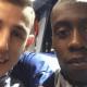 Lucas Digne fait une passe décisive acrobatique à Matuidi lors de l'entraînement des Bleus