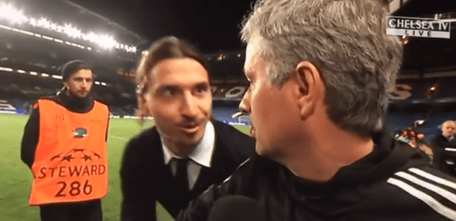 Quand Zlatan souhaite bonne chance à Mourinho