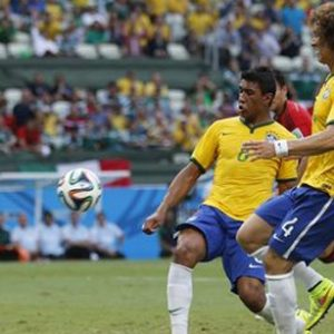 David Luiz bresil vs mexique