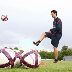 Javier Pastore entrainement