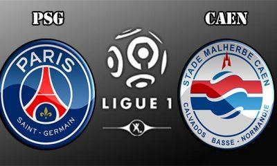 PSG - Caen, Les compos officielles
