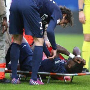 PSG Serge Aurier blessure