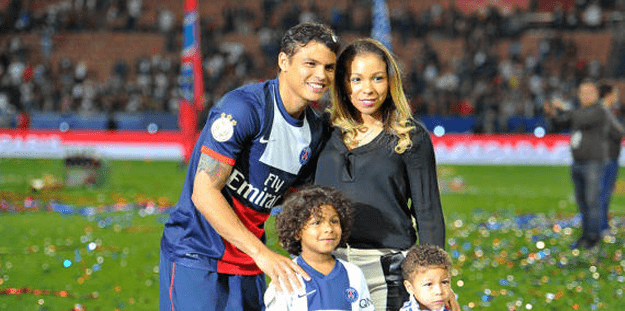 Thiago Silva et sa femme