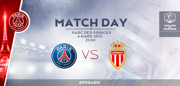 Quart de finale coupe de france PSG - Monaco