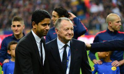 Ligue 1 - Aulas félicite le PSG, Nasser Al-Khelaïfi, Laurent Blanc et Zlatan Ibrahimovic notamment