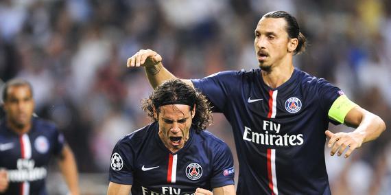 SCB/PSG - Les réactions de Cavani, Ibra et Silva