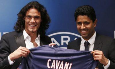 """Mercato - Al-Khelaïfi refuse d'évoquer Pogba et désigne Cavani comme """"le futur du club"""""""