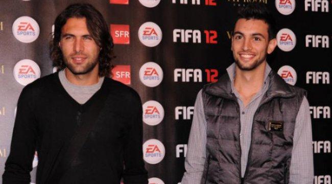Salvatore Sirigu et Javier Pastore