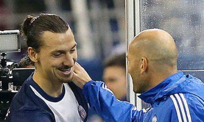 """Ibrahimovic s'exprime sur la nomination de Zidane a la tête du Real et estime que """"si on lui laisse du temps, il aura du succès"""""""
