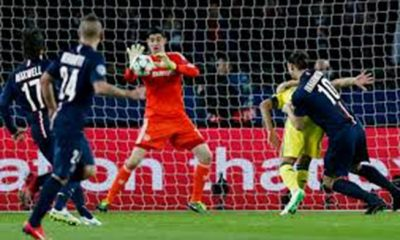 Courtois nominé à l'UEFA pour son arrêt sur Thiago Silva