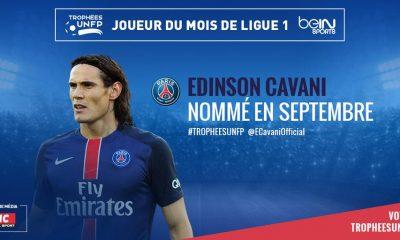 Cavani nominé au côté de Ben Arfa et Lassana Diara pour le Trophée de meilleur joueur du mois de septembre