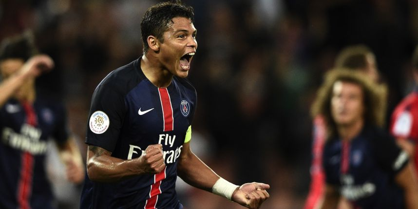 """Troyes / PSG - Thiago Silva """"rien de grave"""" pour son genou, """"la mentalité c'est de gagner"""""""