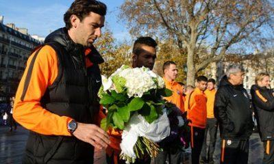 LDC – Le Shakhtar Donetsk rend hommage aux victimes des attentats de Paris