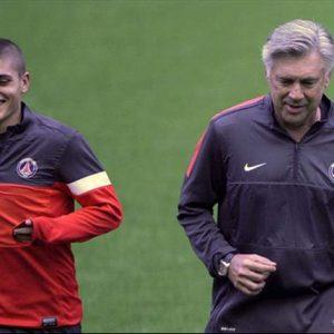 """Ancelotti : Verratti """"a toutes les capacités pour prendre à son compte le jeu d'une équipe"""""""