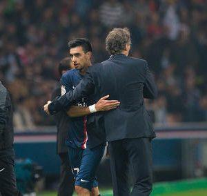 """Blanc: Di Maria ne s'entraîne pas, Pastore n'est pas remis, il faut attendre """"un peu plus"""" pour Verratti"""