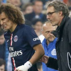 David Luiz blessé + Laurent Blanc