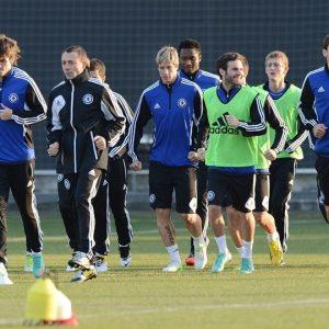 entrainement joueurs Chelsea FC