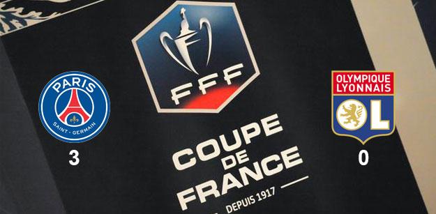 PSG/OL : Paris s'impose 3-0 en Coupe de France