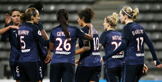 Journée de détection pour la section féminine du Paris Saint-Germain le 19 mai