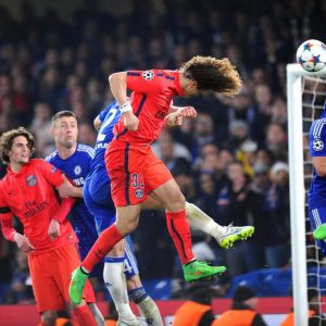 champions league chelsea psg : tête e David Luiz