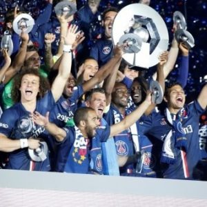 PSG Champion de France football Ligue1 2015