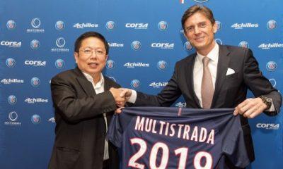 Le PSG annonce un nouveau sponsor avec un accord sur 3 ans: Multistrada