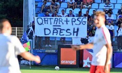 Bastia/PSG - Une banderole bastiaise associe le Qatar, le PSG et Daesh