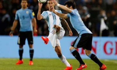 Di Maria et l'Argentine gagnent contre l'Uruguay de Cavani et prennent la première place