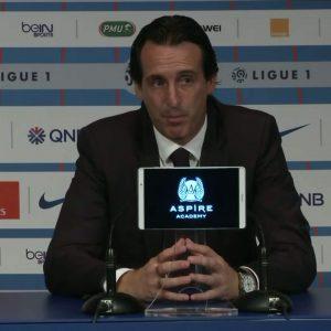 Unai Emery PSG/DIjon après match