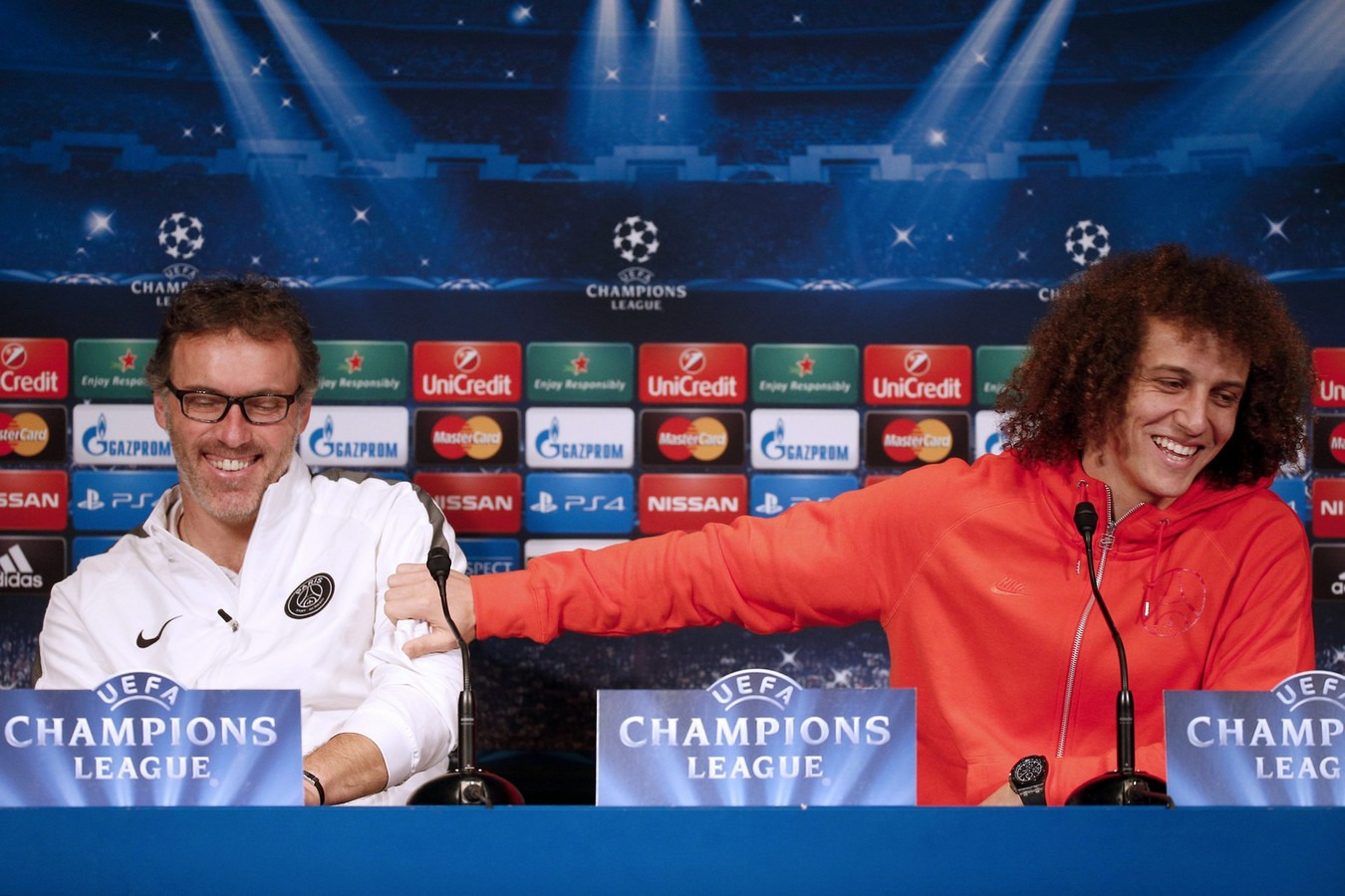 Laurent Blanc + David Luiz PSG