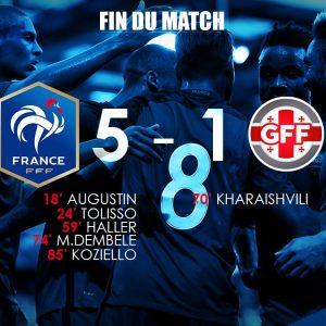 EDF Espoirs - La France se met en confiance en battant la Géorgie, Augustin buteur