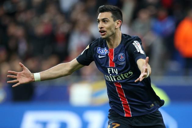 """Javier Pastore """"pourrait figurer dans le groupe contre Monaco"""", d'après L'Equipe"""