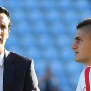 """PSG/Barça - Emery """"Verratti, je crois qu'il sera présent...on va essayer qu'il joue avant"""""""