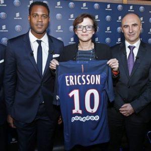 Le PSG officialise son nouveau partenariat avec Ericsson