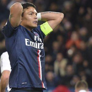 Thiago Silva défaite PSG