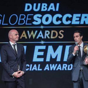 Unai Emery Soccer Globe Awards