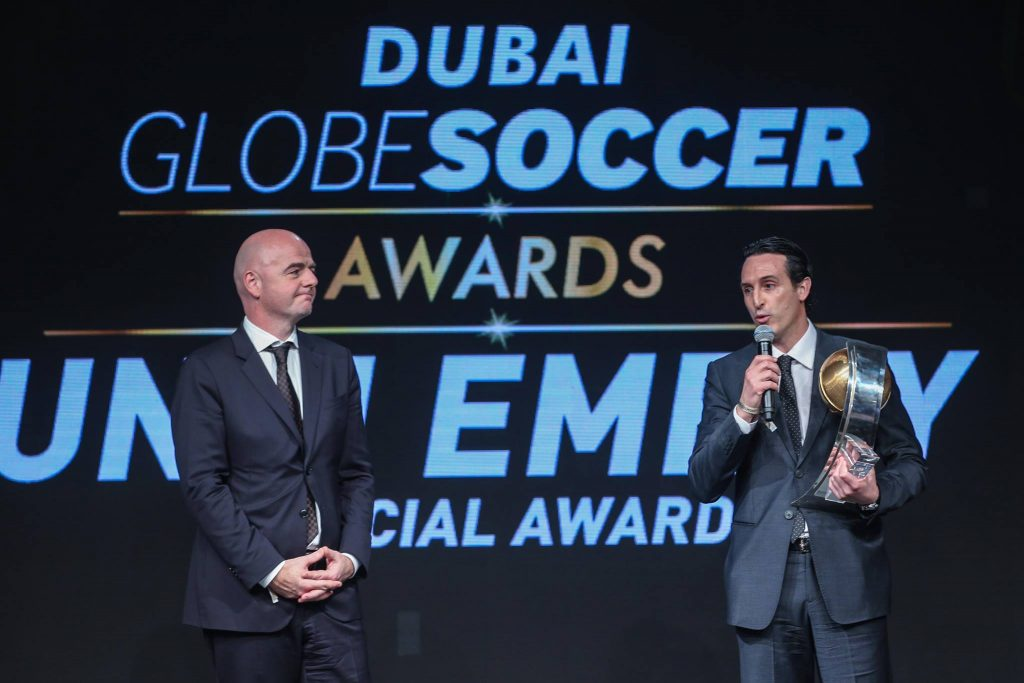Unai Emery Soccer Globe Awards