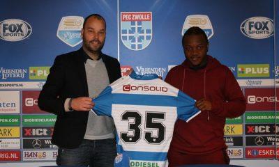 Le PEC Zwolle officialise l'arrivée d'Hervin Ongenda, avec un contrat de 3 ans et demi