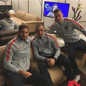 Les images partagées par les joueurs du PSG ce vendredi Direction Rennes!