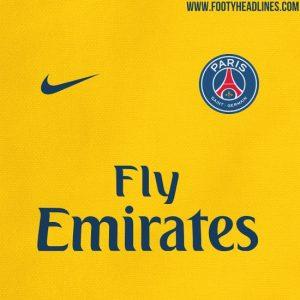 L'Equipe affirme aussi que le PSG utilisera un maillot jaune à l'extérieur la saison prochaine