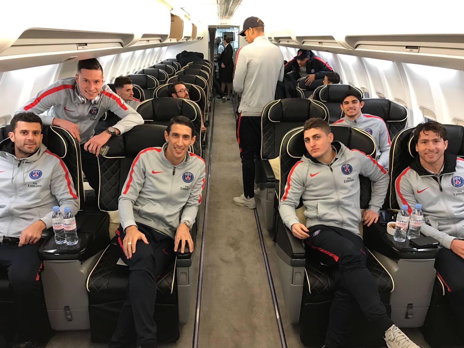 Les images partagées par les joueurs du PSG ce jeudi voyage à Bordeaux!
