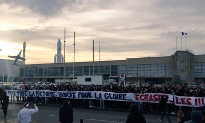 OM/PSG - Le Collectif Ultras Paris est venu encourager les joueurs au Bourget
