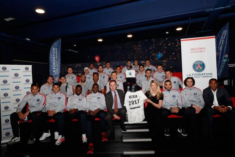 Les joueurs ont passé un long et beau moment à l'hôpital Necker avec la Fondation PSG